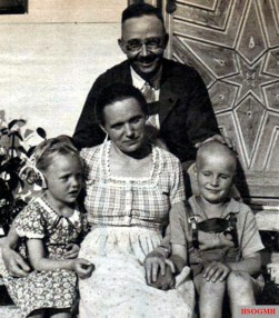 Himmler with wife, daughter Gudrun and adopted son Gerhard , son of Kurt von der Ahé.