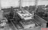 Tigers under construction. This hull rests on a jig, 1944.