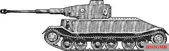 Model reconstruction of VK 4501 (P) Porsche prototype.