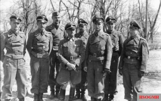 Sepp Dietrich in a medal ceremony for men of the LSSAH, Soviet Union 1942. Sepp Dietrich with von Westernhagen, Wiesemann, Max Wünsche and Karl Rettlinger.