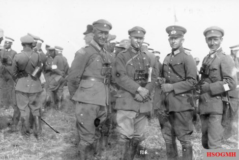 Alfred Jodl (second from right) as a captain of the Reichswehr, 1926.