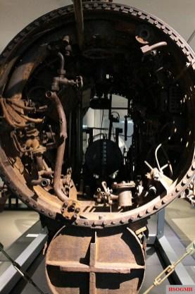 Interior of a salvaged Seehund submarine, Bundeswehr Military History Museum, Dresden.
