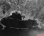 An aerial photograph of Cherbourg taken in 1944.