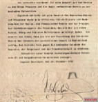 The document with which Kaiser Wilhelm II officially abdicated.