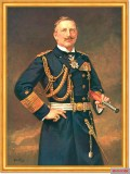 Wilhelm II in the uniform of the Imperial Navy, painting by Robert Hahn from 1911; he was also Grand Admiral honorary of the K.U.K. Navy.