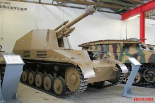 A Wespe at the Deutsches Panzermuseum in Munster, Germany.
