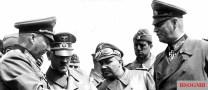 From left: Hans Günther von Kluge, Adolf Hitler, Martin Bormann, Dr. Ing . Karl Brandt, and Wilhelm Keitel , 1940.