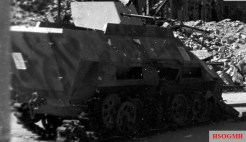 Knocked out Sd.Kfz. 251 in Berlin.