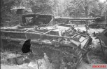 Destroyed Panzer IV in Berlin.