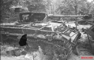 Destroyed Panzer IV in Berlin.