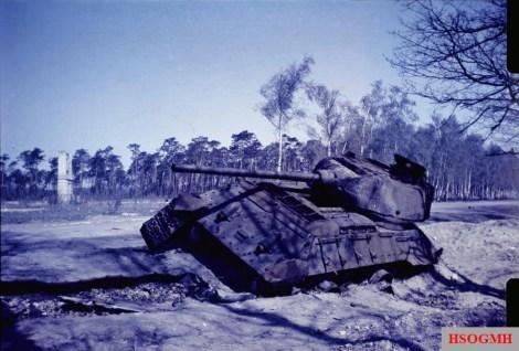Destroyed Soviet armor in Berlin.