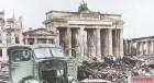 Brandenburg Gate after the Battle of Berlin.