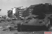 Knocked out T-34s in Berlin.