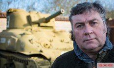 Kevin Wheatcroft with one of his tanks. He owns 88 – more than the Belgian and Danish armies combined.