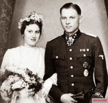 "On March 1, 1944, SS Obersturmführer Wittmann married his great love Hildegard ""Hilde"" Burmester, the war ceremony took place in Lüneburg. Hilde remarried after the war, but held the memory of her first husband, even at meetings of the traditional associations, in the highest honor."