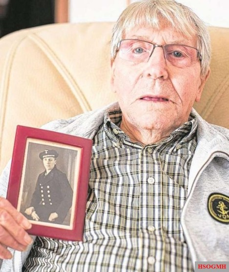Bernhard Heuer in 2015, the last survivor of the legendary battleship. He passed on 7 March 2018.