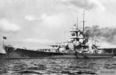 Schlachtschiff Gneisenau in 1939.
