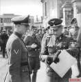 SS-Oberführer Heinrich Bernhard Lammerding (right) in Thouars (France) on April 10, 1944.