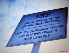 Division of Berlin warning sign.