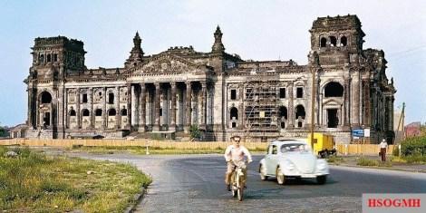 Reichstag still not rebuilt after the war.