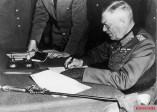 8 May 1945, Field Marshal Wilhelm Keitel signs Germany's unconditional surrender near Berlin.