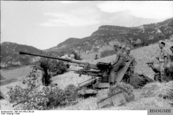 A 3.7 cm Flak 36/37 in Italy, 1944.