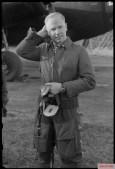 Oberst Karl Kessel of Geschwaderkommodore KG 2 (Kampfgeschwader 2) in front of a Dornier Do 217M UB+AM (Werknummer 4438) bomber. The picture was taken in Airfield of Melun-Villaroche, France.