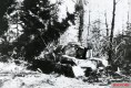 Panzer IV wreck near Fontaine-l'Eveque, 1944.