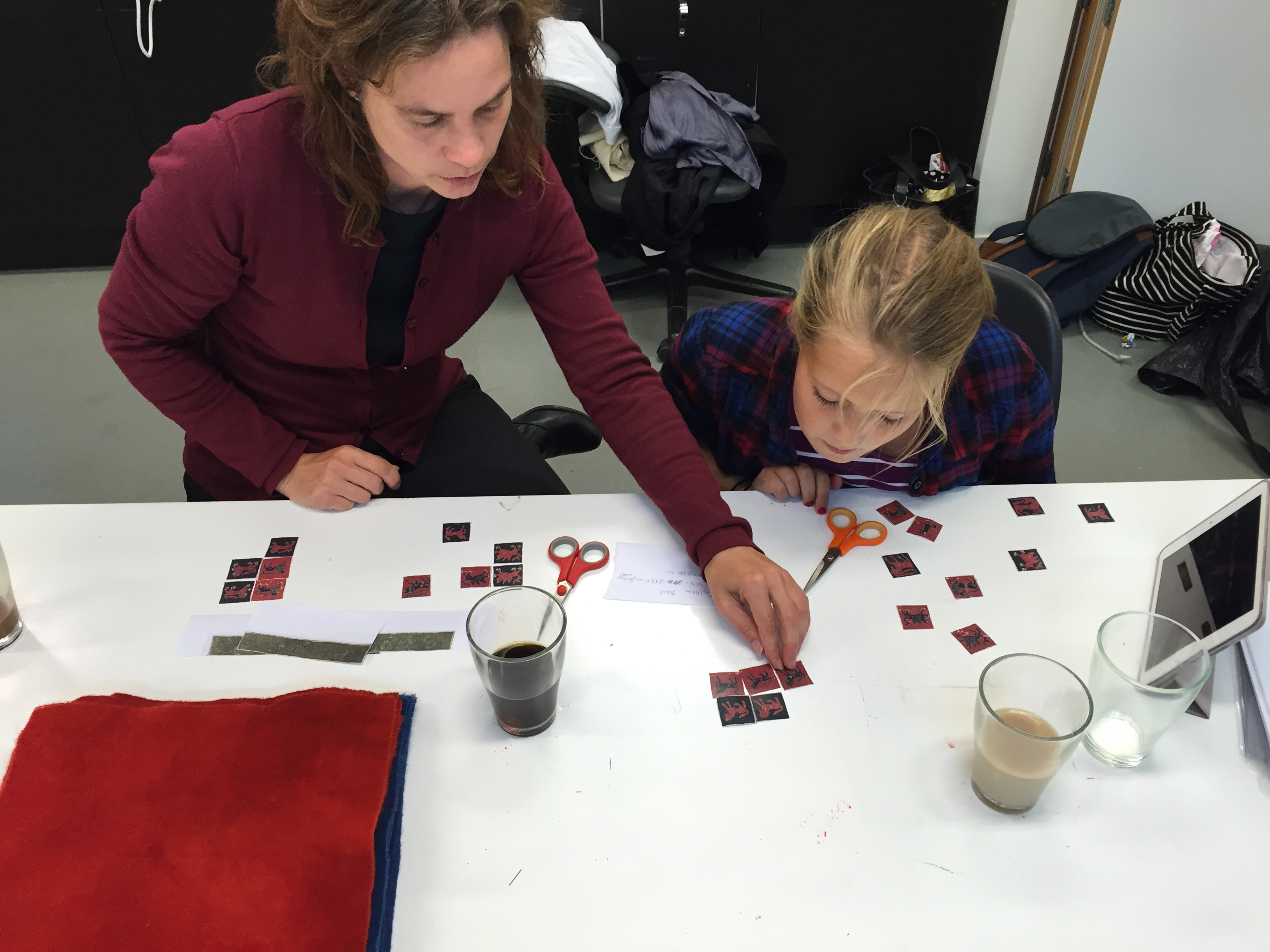 Matching the animal pairs, Magdalena Fick and Allis Neijman
