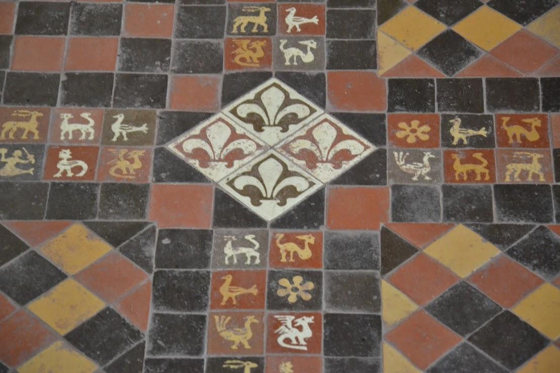 14th century floor tiles- Germany