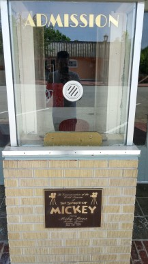 Admission booth in front of theater