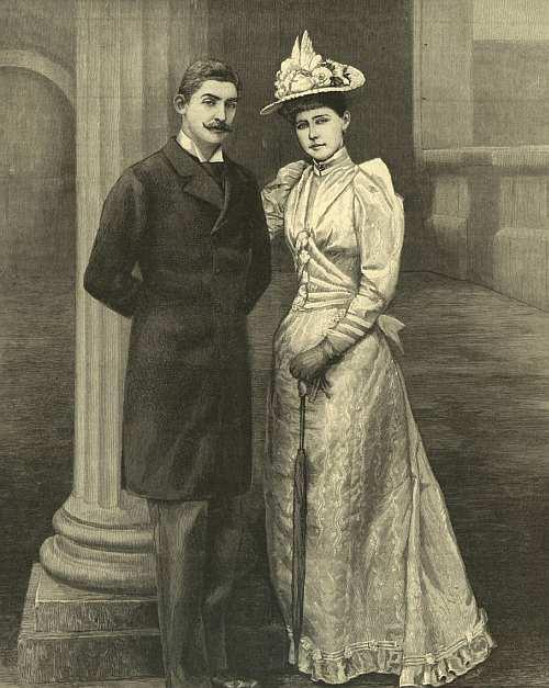 Principele Ferdinand dupa casatoria cu Maria de Edinburgh in 1893