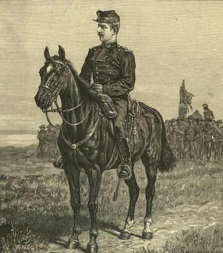 Principele Ferdinand in uniforma de capitan de vanatori in anul 1892