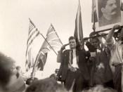 1944 - Nicolae Ceauşescu pe 30 august 1944 la intrarea Armatei Roşii în Bucureşti Fototeca online a comunismului românesc cota 12-1944