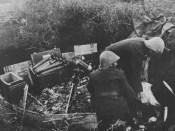 1942 artileristi români lângă mortier de 81mm