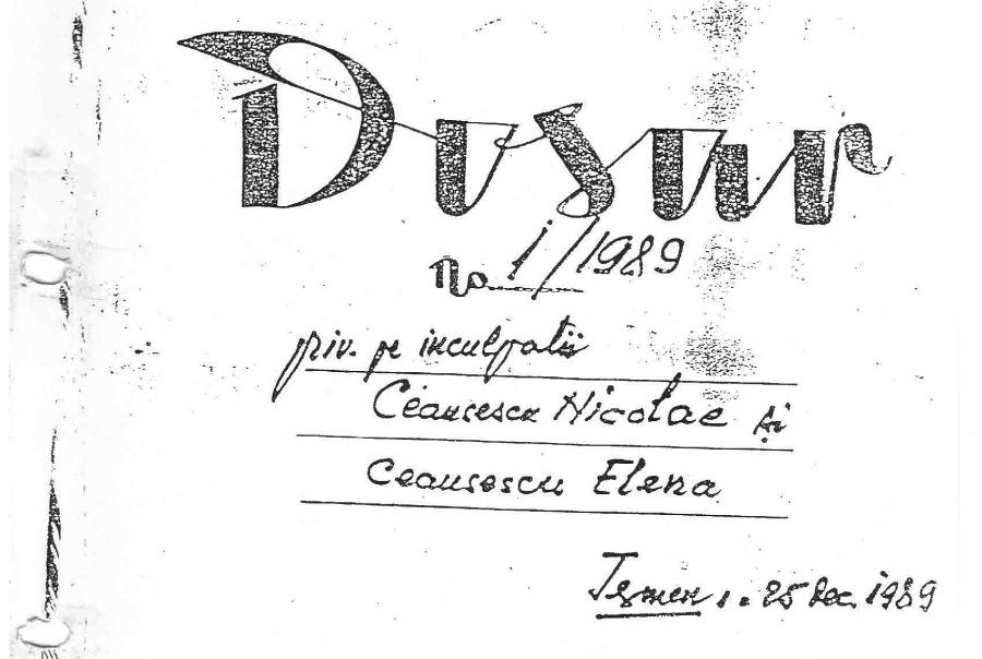 dosar nicolae ceausescu