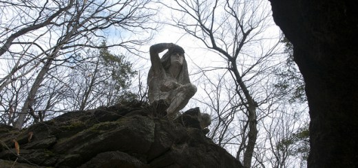 Statue dedicated to the Lenape in Wissahickon Park