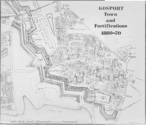 The Gosport Town Defences 1860 drawn by Brian Patterson