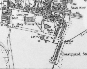 Stanley House and Holy Trinity Vicarage on a map of 1896