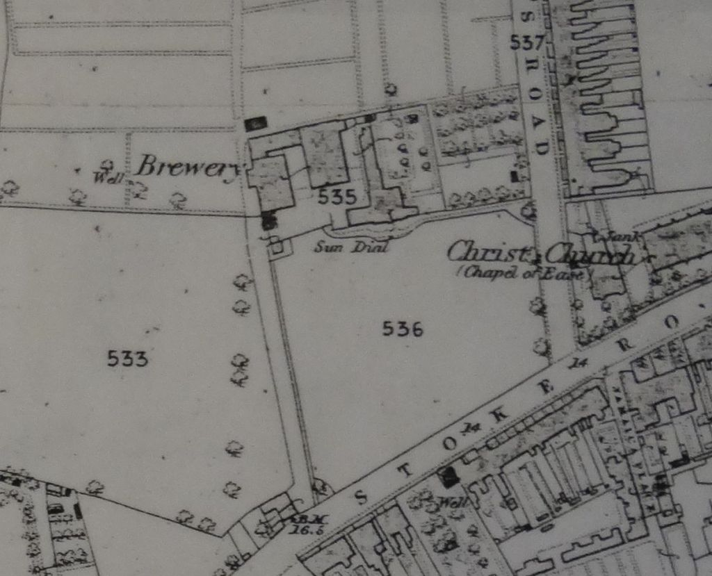 Stoke Brewery on a map of 1867