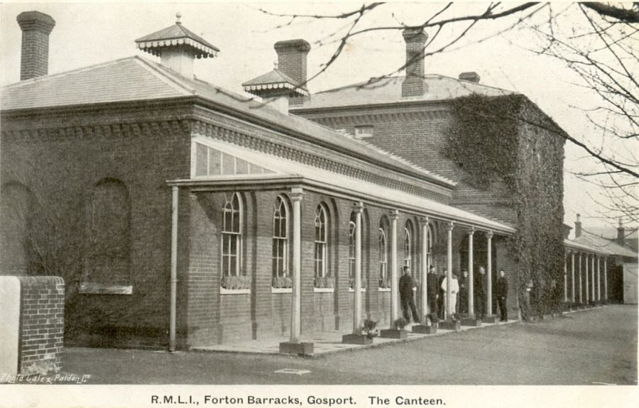 Forton Barracks Canteen in an old postcard