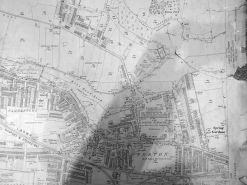 Map of Forton in 1910 showing reclaimed Mill Pond land