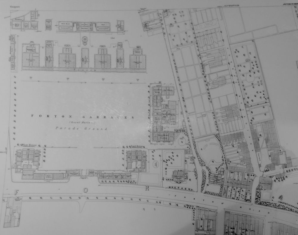 Forton Barracks Plan of 1862