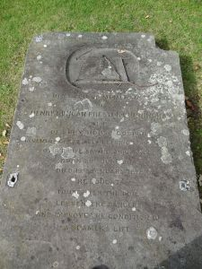 Cunningham's Gravestone at Rowner Church