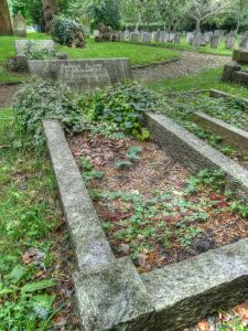 Snape's Grave at Rowner Church taken in 2012