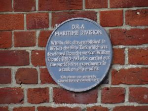 Blue Plaque DRA Haslar