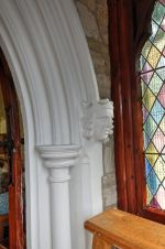 Anns Hill episcopal chapel detail of entrance arch