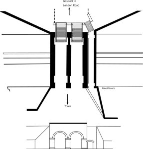 Proposal to add a pedestrian tunnel through the ramparts at North Double Gates: Based on WO44/280