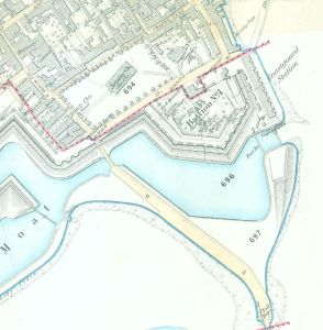 Haslar Gate plan circa 1890