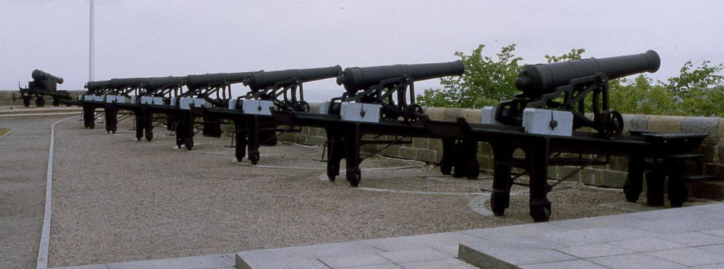 A typical battery (Quebec Citadel)